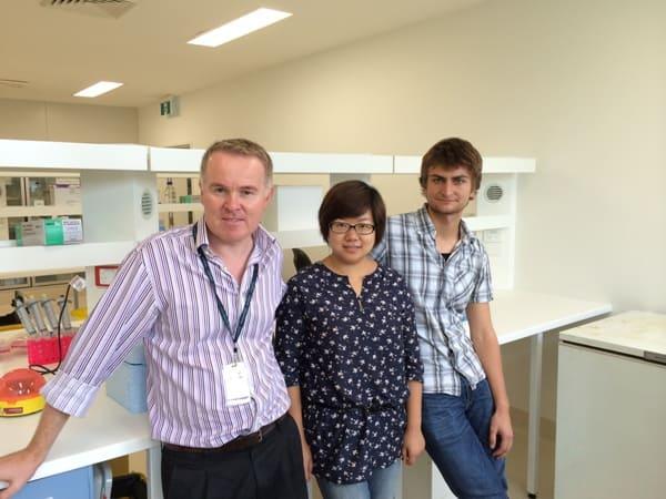 Prof Mark Cooper, Dr Jinwen Tu, Janko Sattler.
