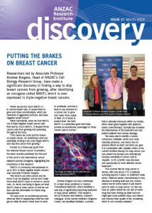 ANZAC Research Institute Discovery Newsletter March 2019